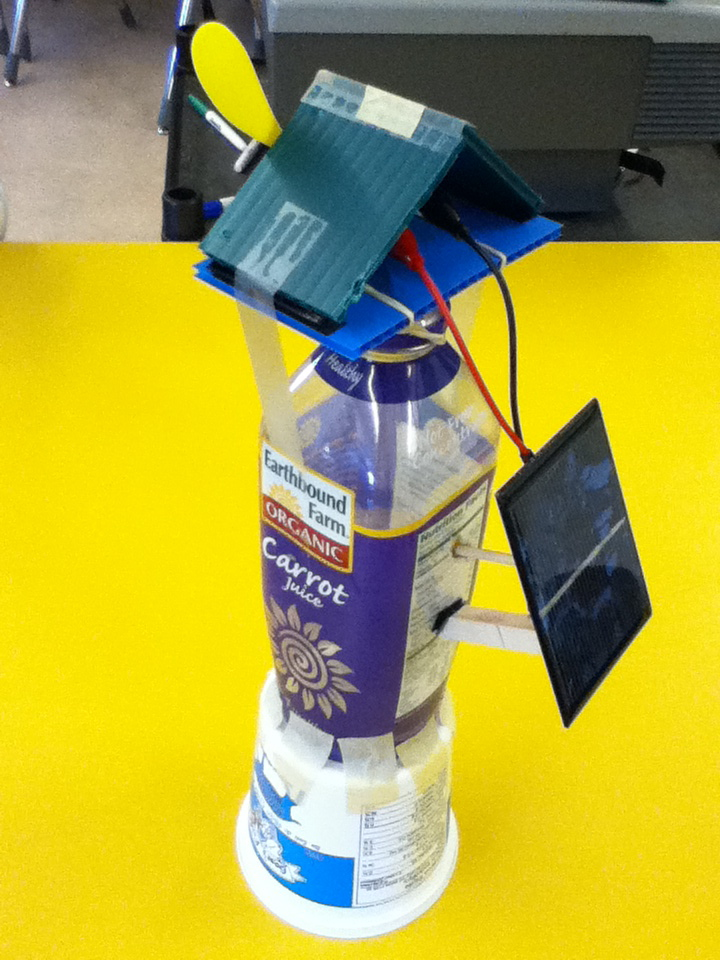 solar toy windmill