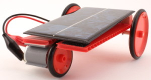 solar toy with 3 wheels