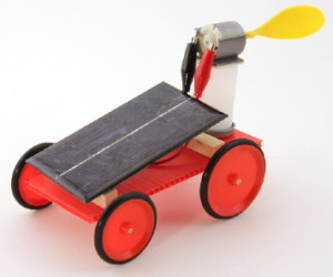 solar toy fan car