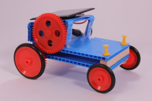 Solar toy tractor