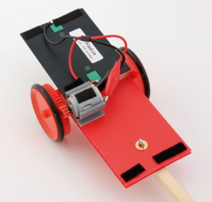 solar dragster showing velcro attachments