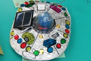 child's model of solar flying saucer